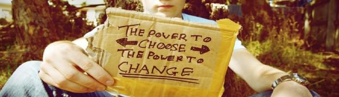 el poder de elegir, el poder de cambiar